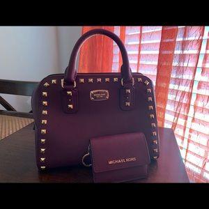 Original MK Purse and wallet set - Purple